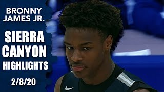 Bronny James, Sierra Canyon take on Andre Curbelo, Illinois commit for 2020 | Prep Highlights