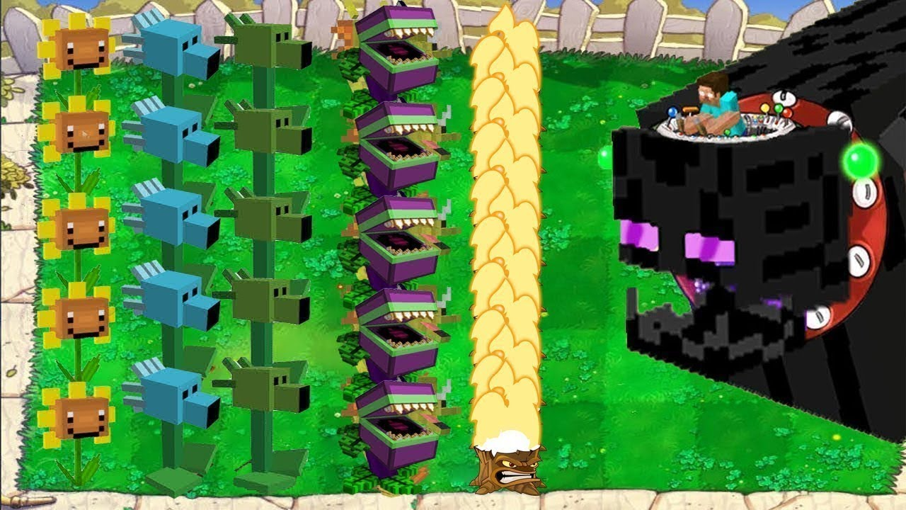 Plants vs Zombies - Plants Minecraft vs Zombies Minecraft