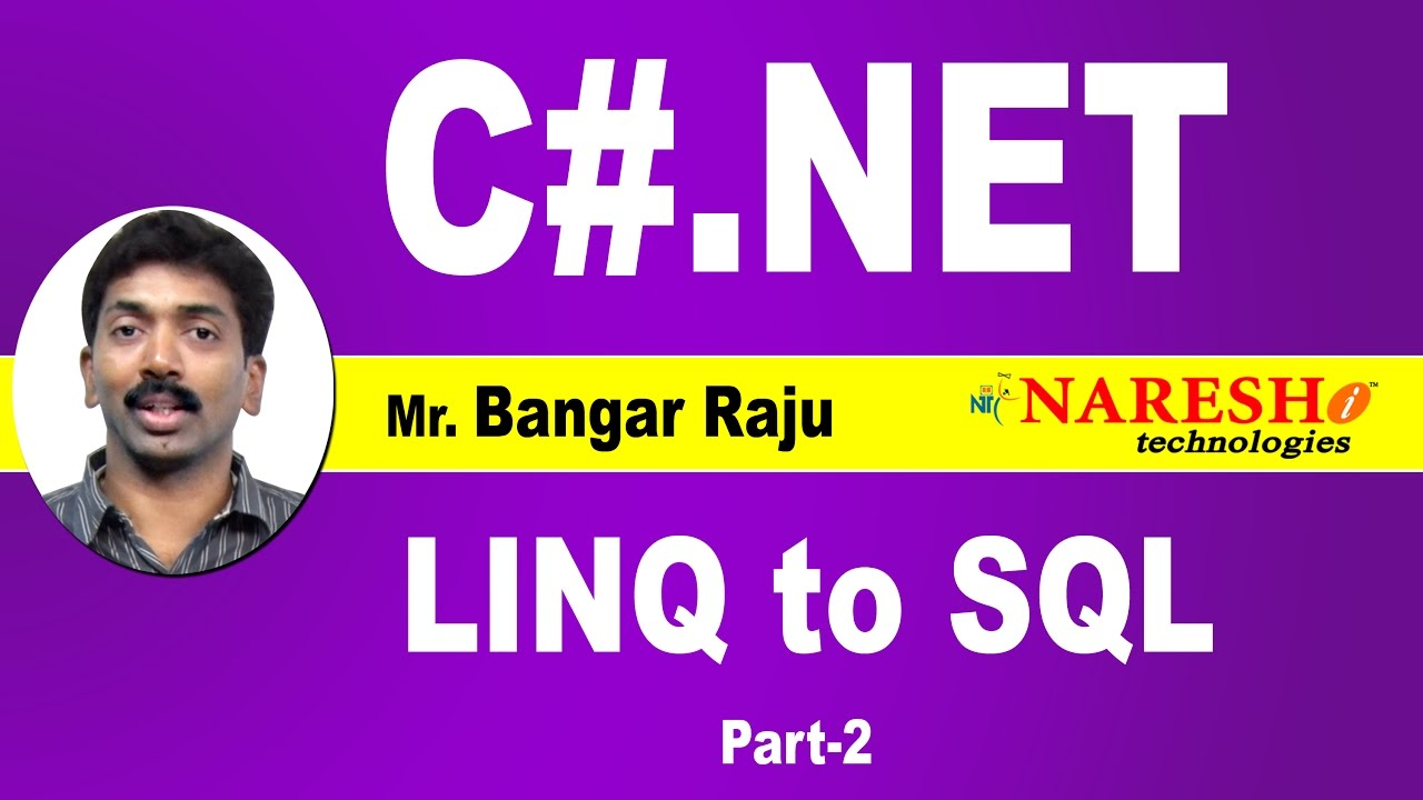 Wcf linq to sql tutorial.