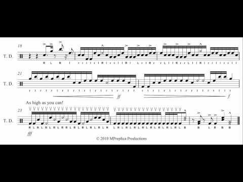 Blue Devils Drum Break 2010 Tenor Solo Transcription