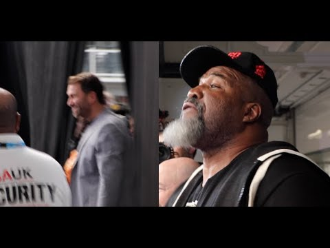 'KNOCK ME OUT' - EDDIE HEARN TO SHANNON BRIGGS - WHO CLAIMS HE WAS BARRED FROM THE WEIGH-IN