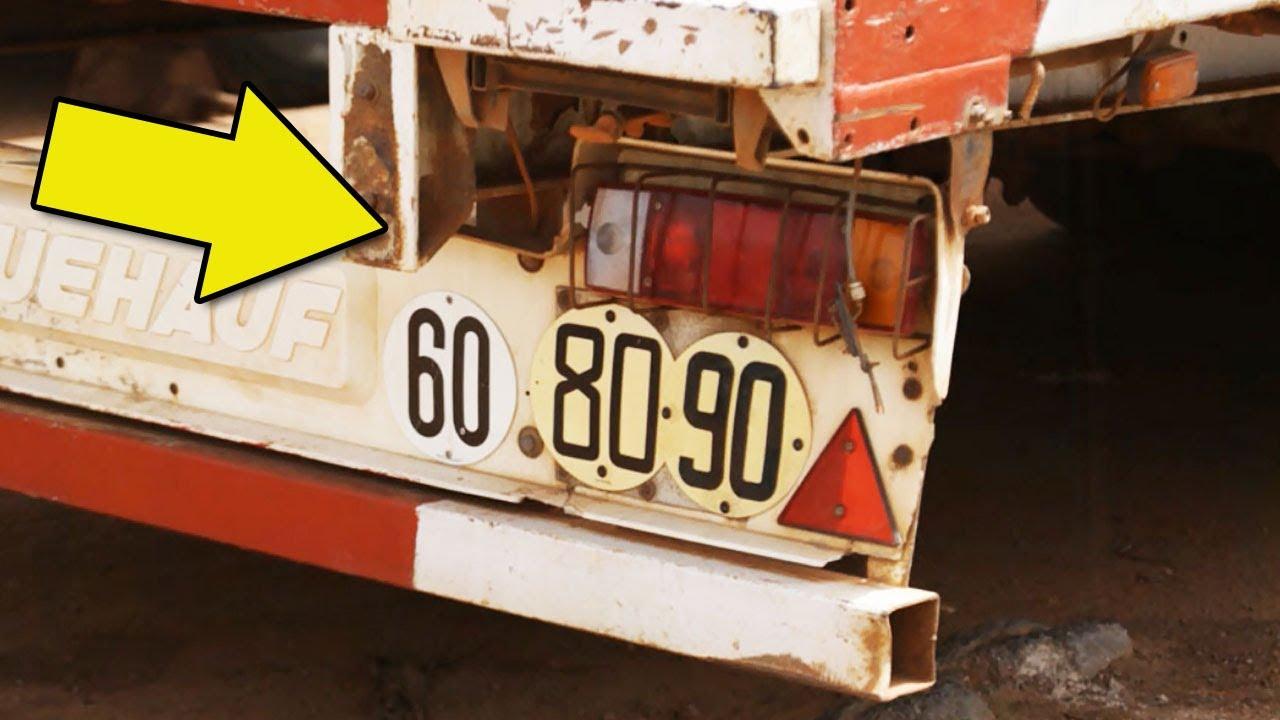 Для чего сзади на фуры вешают знак ограничения скорости?