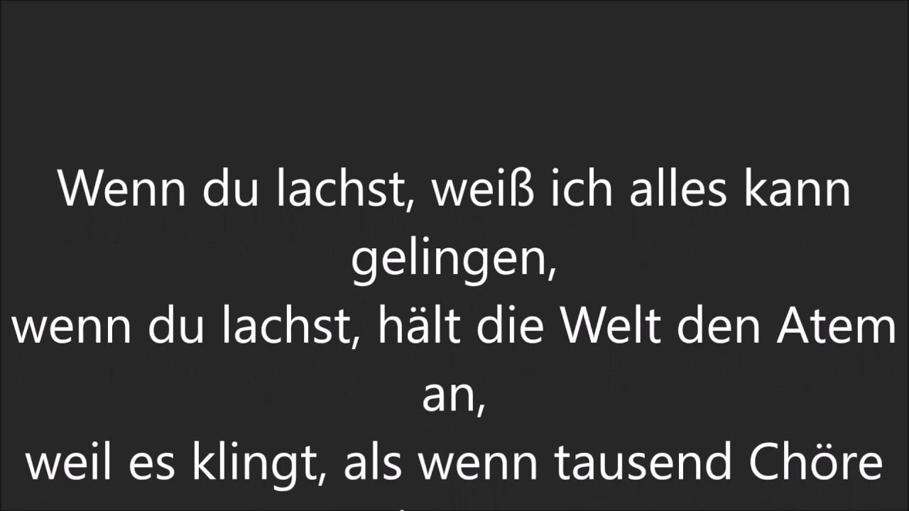 Helene Fischer - Wenn du lachst (Lyrics/Songtext) - YouTube