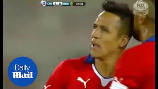 Alexis Sanchez scores but Chile fall 2-1 to Uruguay - Daily Mail