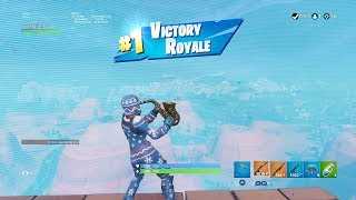 "FORTNITE First Win with WINTER ""ONESIE"" SKIN (HIGH KILL SOLO) 