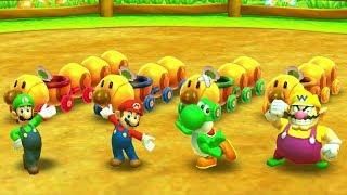 Mario Party Star Rush MiniGames - Luigi Vs Mario Vs Yoshi Vs Peach (Master CPU)