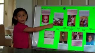 Maisie practicing her timeline presentation  Oct. 1, 2012