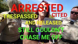 LAS VEGAS ARREST ( STAND YOUR GROUND )  no charges filed, 1st Amendment audit