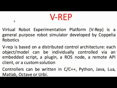 How to: V-rep Tutorial