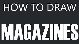 How To Draw A Magazine - Hollywood Magazine Drawing (Magazines)