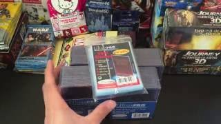 Ultra Pro Toploaders and Card Sleeves Unboxing