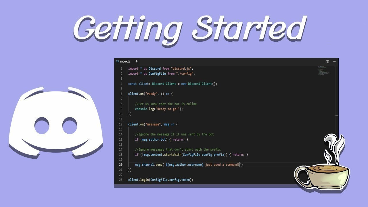Coding Your Own Discord Bot - Discord.js - Setting Up Your Bot - *NEW* by Dapper Dino