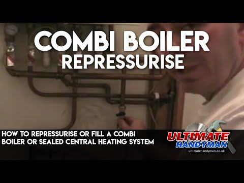 How to repressurise or fill a combi boiler or sealed central heating ...