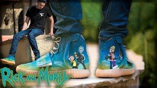 "Custom ""Rick & Morty"" Yeezy 750s"