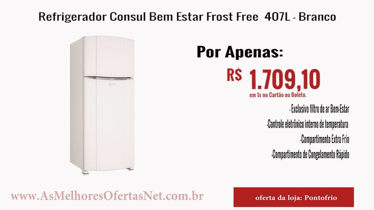 225f2b2fb Oferta Encerrada  Refrigerador Consul Bem Estar Frost Free 407L - As ...