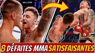 Les Défaites les plus Satisfaisantes du MMA ! 8 Combattants Arrogants qui se sont faits DÉTRUIRE !
