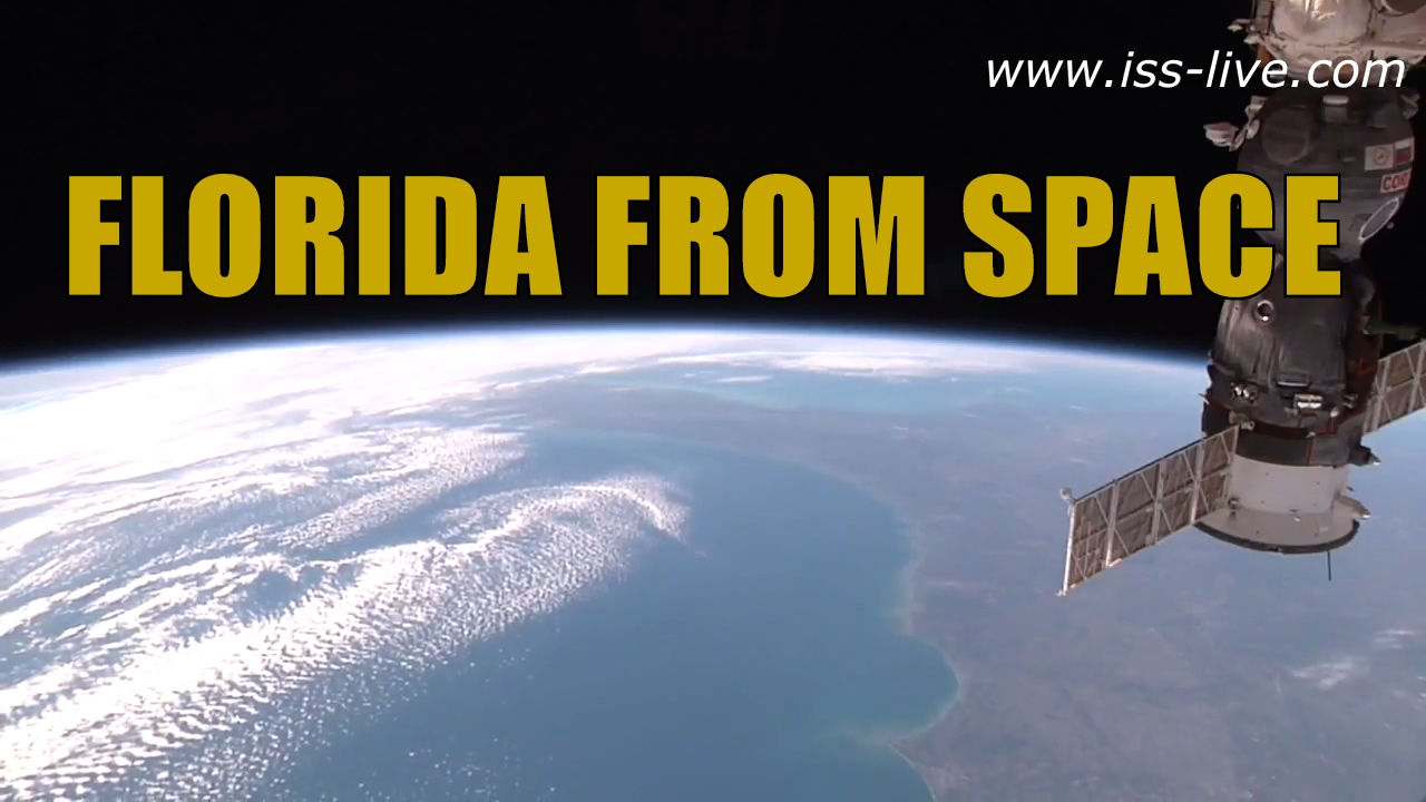 Florida from space earth from the iss the space coast for Space station florida