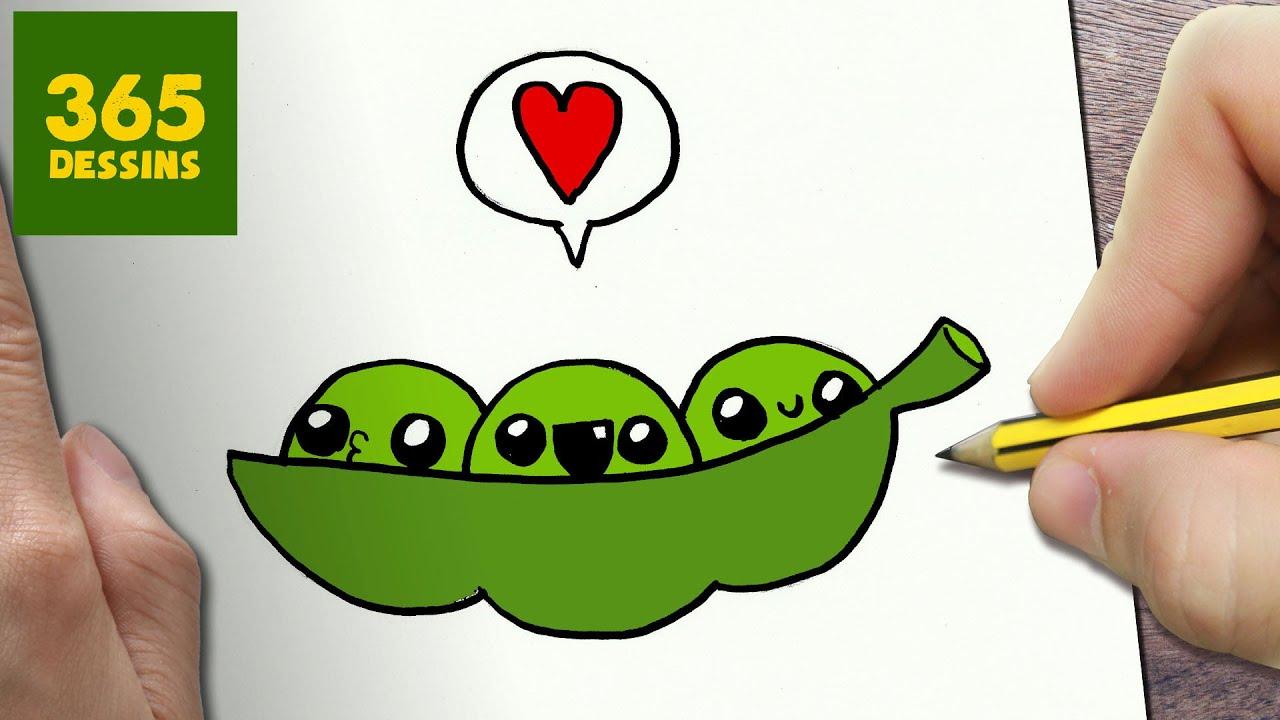 Comment dessiner pois verts kawaii tape par tape - Comment dessiner kawaii ...