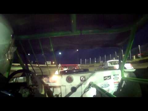 7.3.15--Peoria Speedway---Street Stock Feature---in car