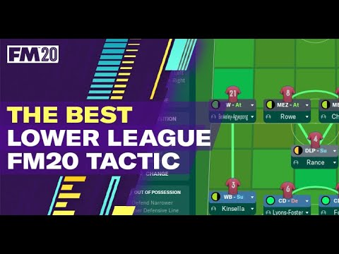 Best FM20 Tactic For Lower League Teams \\ UNBEATEN With A Relegation Team 😍