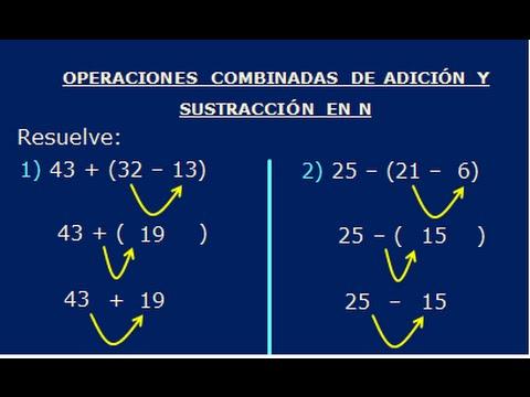 OPERACIONES COMBINADAS DE SUMA, RESTA, MULTIPLICACION Y