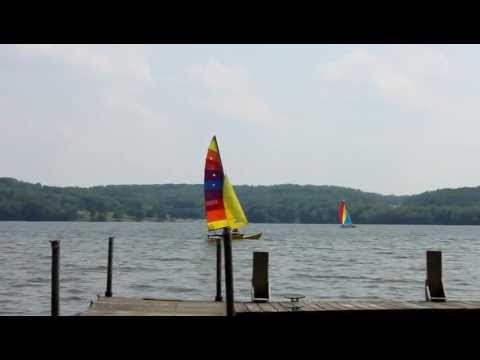 Sailboats on Lake Arthur, Moraine State Park PA