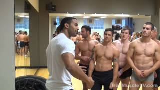 Topless Male Models Learn how to pose for the stage!!!