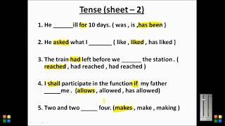 Tense Practice Set 2