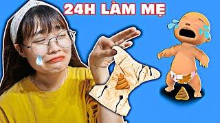 Hà Sam Thử Thách 24H Làm Mẹ Trong Game Mother Life Simulator - Lần Đầu Tập Thay Bỉm Cho Con Thối Quá