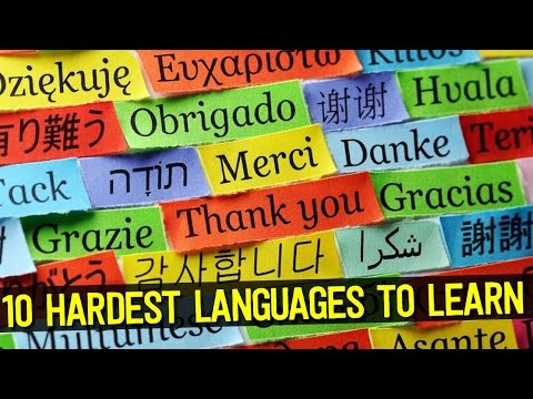 Top 10 HARDEST Languages to Learn in the World