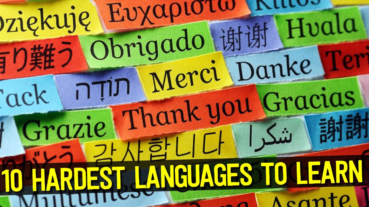 Top HARDEST Languages To Learn In The World YouTube - Top ten languages spoken in the world 2016