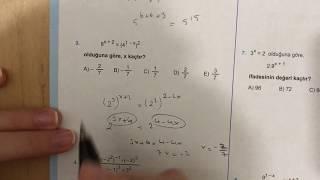 345 TYT Matematik Üslü Sayılar Test-3 Anlatımlı Çözümleri(2018-2019 basım)
