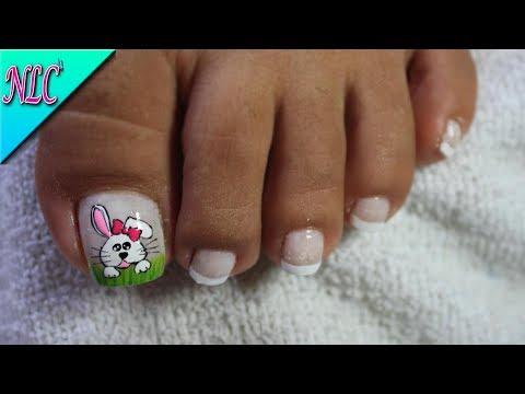 Decoración De Uñas Para Pies Conejita Bunny Nail Art