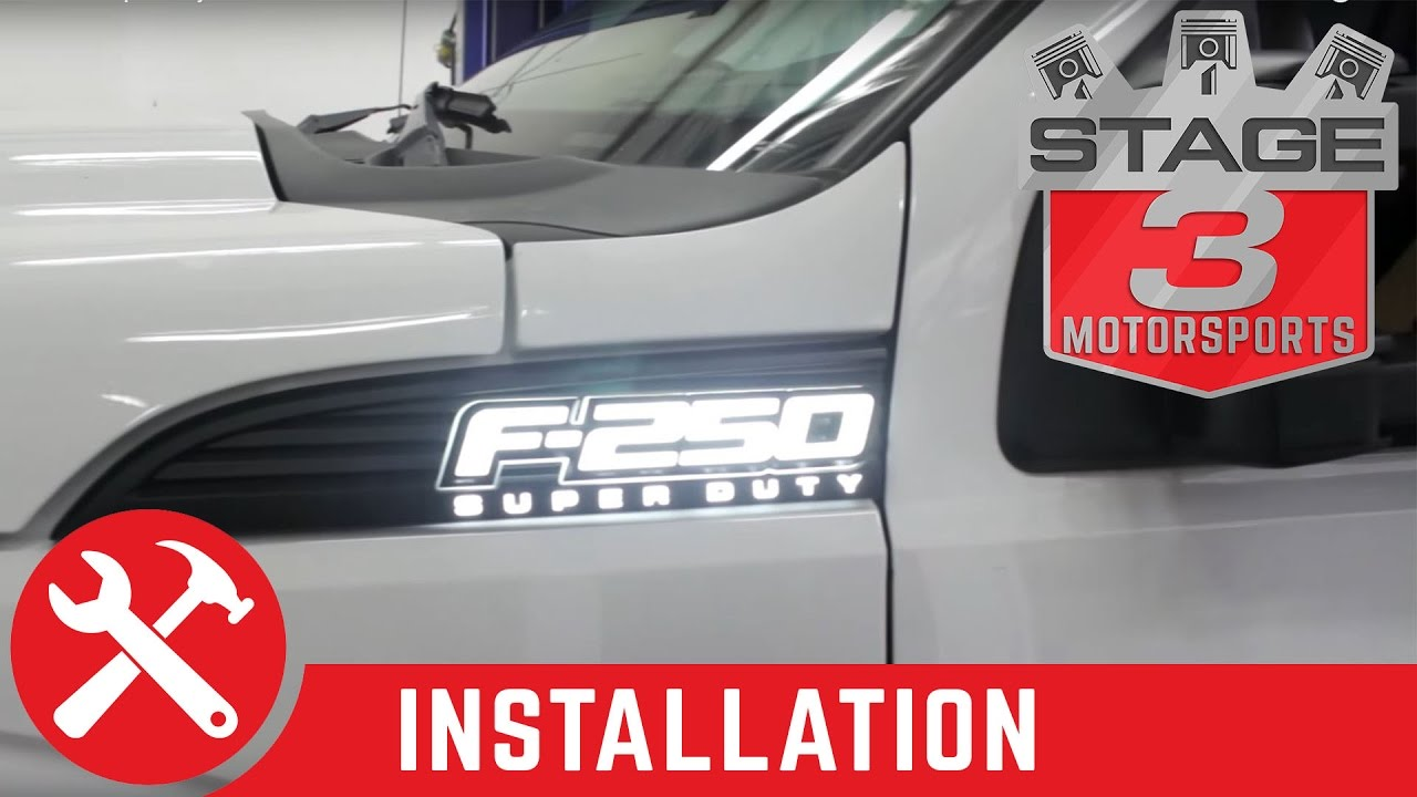 2011 2015 F 250 350 Super Duty Recon Illuminated Side Emblems 2013 Ford 150 Power Mirror Wiring Diagram Install