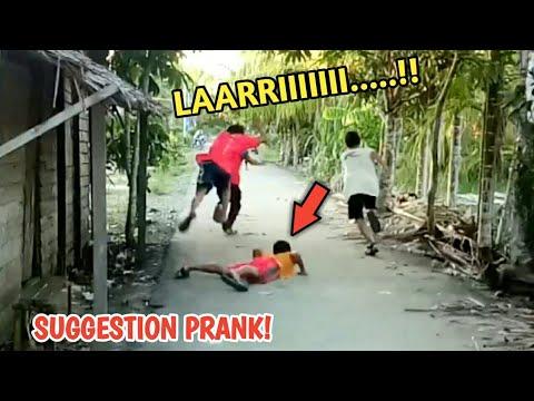SUMPAH NGAKAK!! PRANK LARI KOCAR KACIR WKWKWK - Prank Indonesia