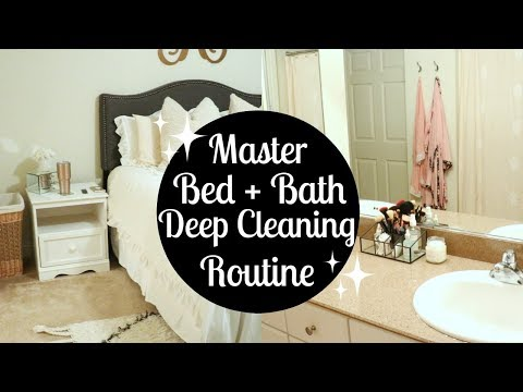 MASTER BEDROOM + BATHROOM DEEP CLEANING ROUTINE 2017 | Cleaning Motivation | Tara Henderson