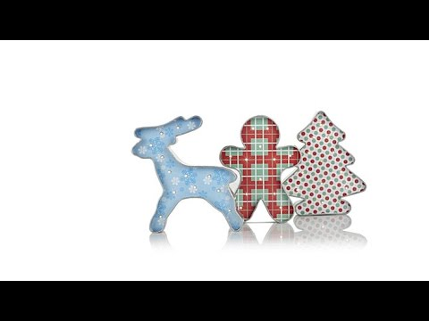 Winter Lane Set of 3 Lit Metal Cookie Cutter Decorations