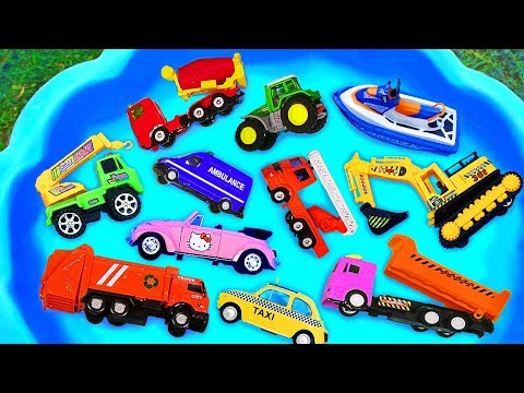 Toys Review And Learning Name And Sounds Construction Vehicles
