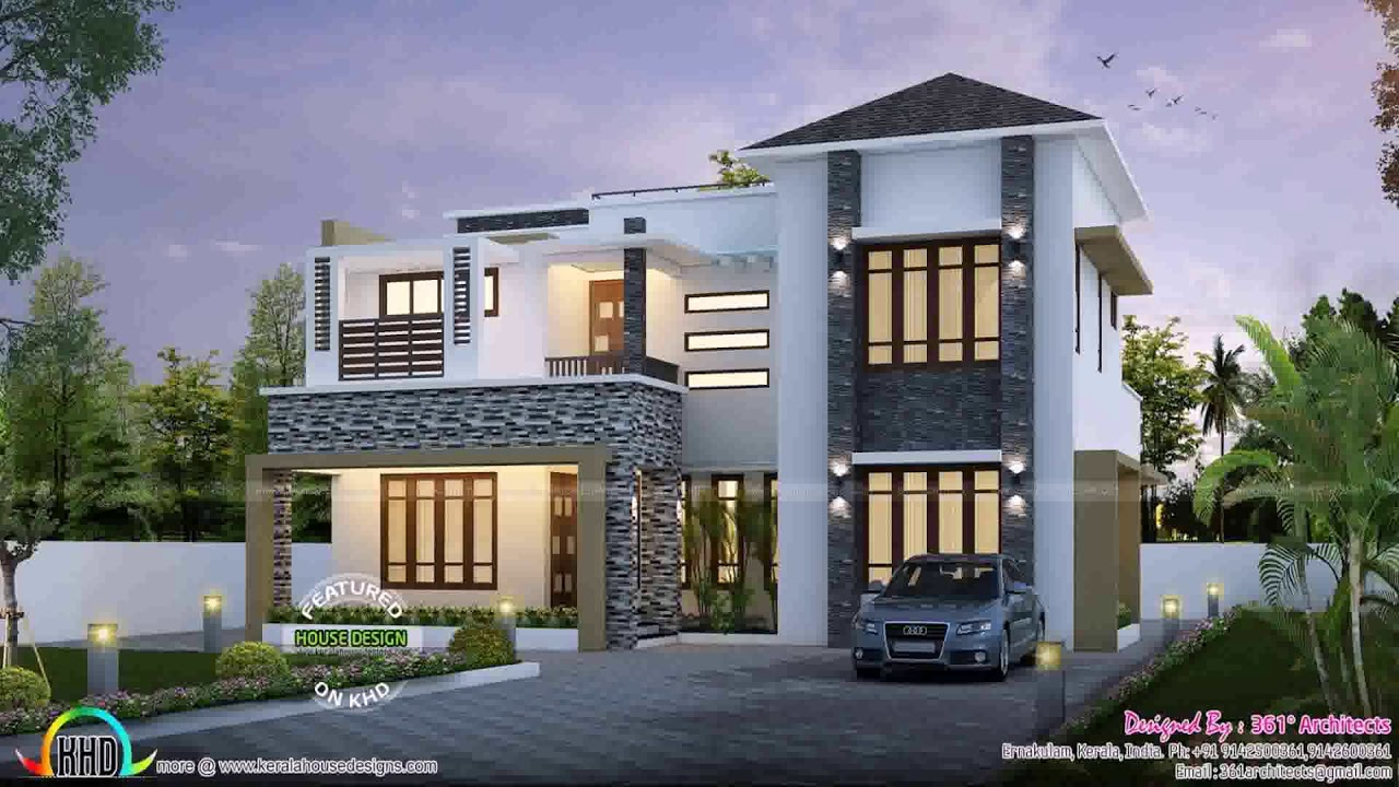 Modern house plans 5000 square feet youtube for Floor plans for 5000 sq ft homes