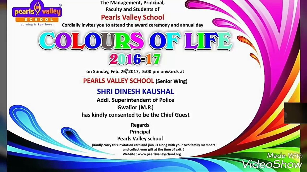Great Grand Pear Valley School Annual Function Colors Of Life 2k17