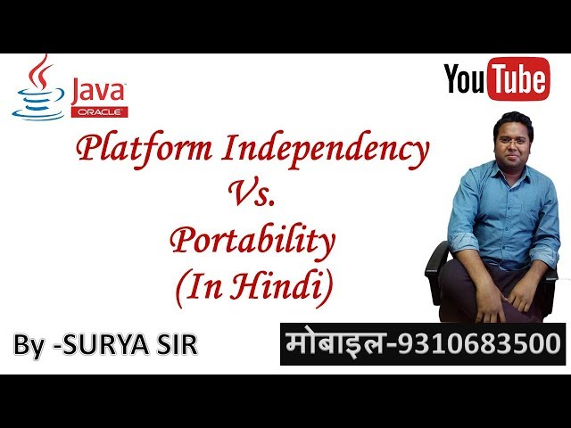 Portability Vs  Platform Independency