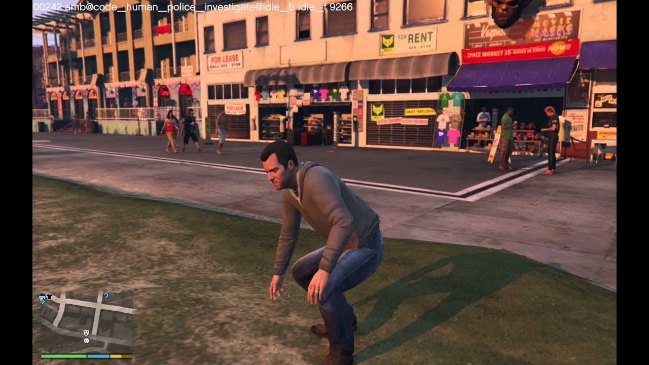 GTA V animations research - 00000 to 00999