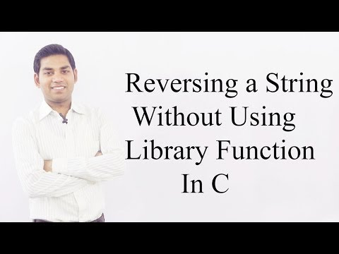 Reversing a String Without Using Library Function in C (HINDI)