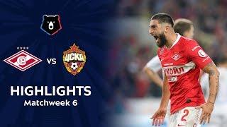 Highlights Spartak vs CSKA (2-1)