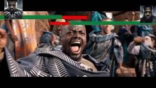 Black Panther Vs M39baku Final Battle With Healthbars HD