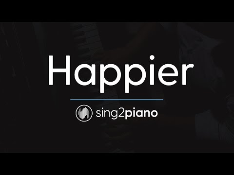 Happier (Piano Karaoke Instrumental) Ed Sheeran