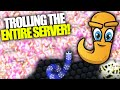 JUMBO STYLE - TROLLING THE ENTIRE SERVER IN SLITHER.IO // 37,538 Mass With NEW CUSTOM HACKED SKIN!!