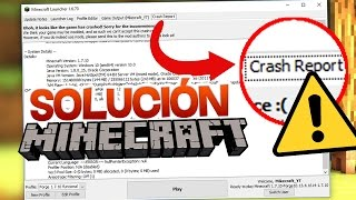 COMO SOLUCIONAR CRASH REPORT EN MINECRAFT WINDOWS 2017