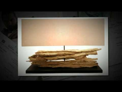 Rustic Riverine Driftwood Table Lamp Home Decor   Desk Table Floor Lamp