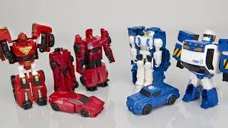 Красные роботы против Синих роботов. Игрушки Трансформеры.